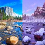 20 espectaculares paisajes antes y después de las nevadas de invierno
