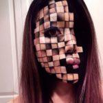 Artista del maquillaje puede transformar su cara en un error de la Matrix